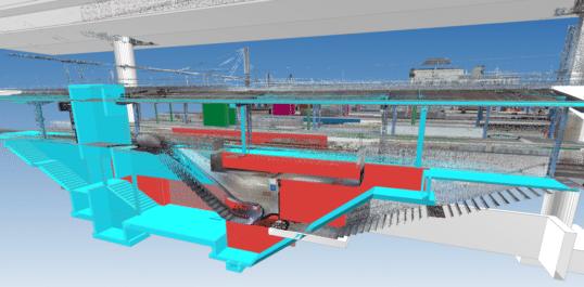 Gare de Charleroi : Le BIM pour accélérer la conception et faciliter l'exécution